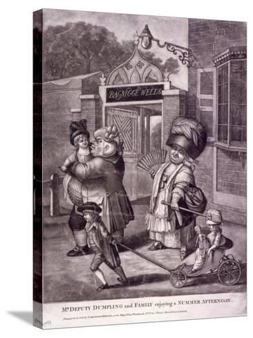 Bagnigge Wells, St Pancras, London, C1780--Stretched Canvas Print