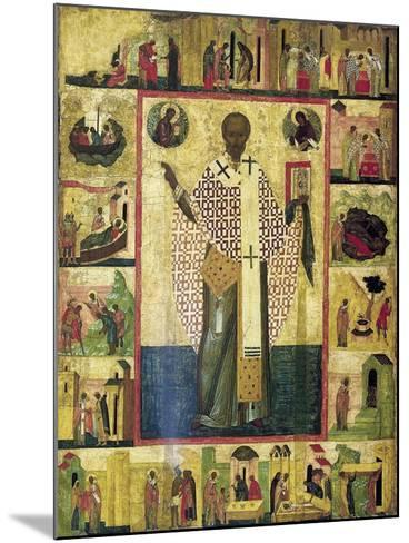 Saint Nicholas of Zaraisk with Scenes from His Life, Early 16th Century--Mounted Giclee Print