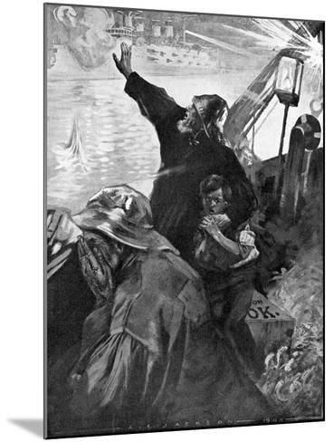 Russian Baltic Fleet Attacking Fishing Boats, Russo-Japanese War, 1904-5--Mounted Giclee Print