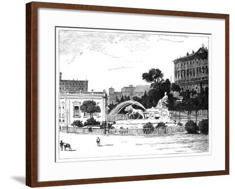 The Fountain of Cybele, Madrid, 1900--Framed Art Print