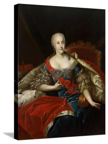 Portrait of Johanna-Elizabeth, Electress of Anhalt-Zerbst, (1712-176), C1746-Antoine Pesne-Stretched Canvas Print