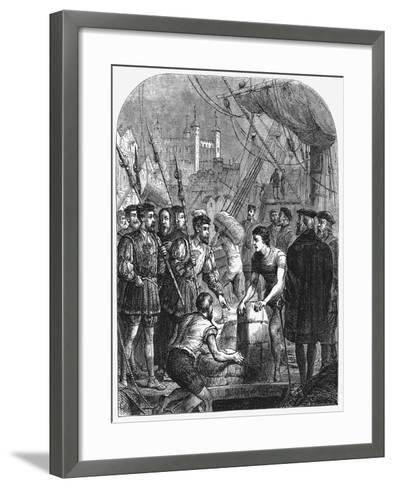The Bible Being Smuggled into England, 1536--Framed Art Print