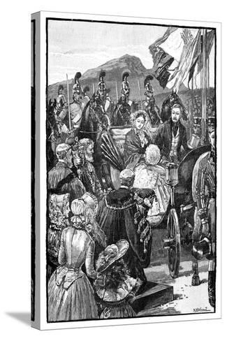 The Queen's Entry into Edinburgh, C1840S--Stretched Canvas Print