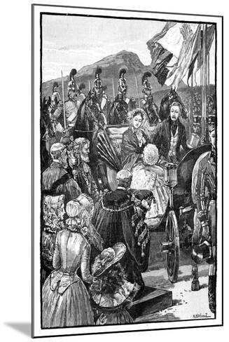 The Queen's Entry into Edinburgh, C1840S--Mounted Giclee Print