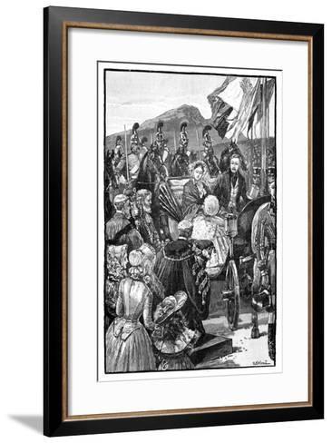 The Queen's Entry into Edinburgh, C1840S--Framed Art Print