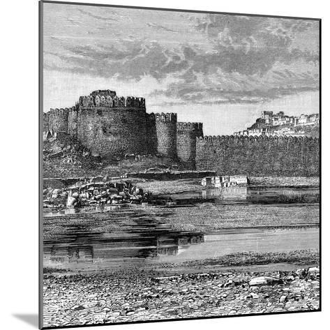 Ramparts of the Town and Citadel, Golconda, India, 1895--Mounted Giclee Print