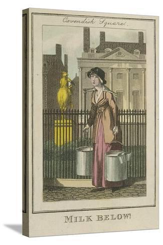 Milk Below!, Cries of London, 1804-William Marshall Craig-Stretched Canvas Print