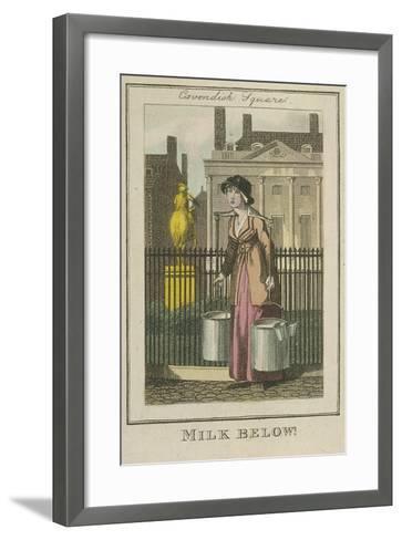 Milk Below!, Cries of London, 1804-William Marshall Craig-Framed Art Print