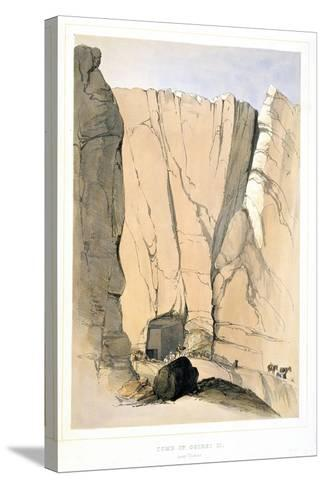 Entrance to a Tomb in the Valley of the Kings Near Thebes, Egypt, 1855-Lord Wharncliffe-Stretched Canvas Print