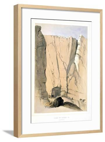 Entrance to a Tomb in the Valley of the Kings Near Thebes, Egypt, 1855-Lord Wharncliffe-Framed Art Print