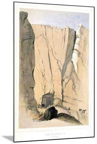 Entrance to a Tomb in the Valley of the Kings Near Thebes, Egypt, 1855-Lord Wharncliffe-Mounted Giclee Print