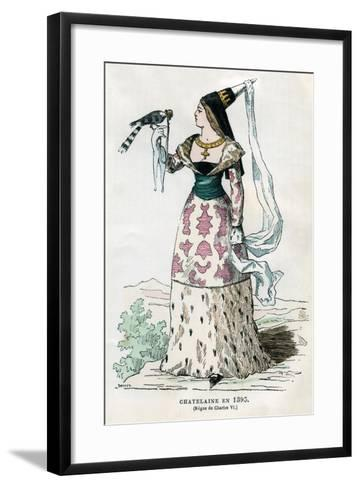 Lady of the Manor of the Time of Charles VI of France, 1395- Petit-Framed Art Print