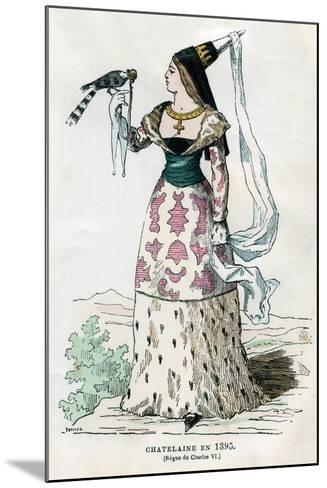 Lady of the Manor of the Time of Charles VI of France, 1395- Petit-Mounted Giclee Print