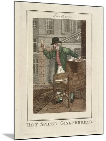 Hot Spiced Gingerbread, Cries of London, 1804-William Marshall Craig-Mounted Giclee Print
