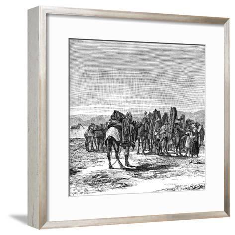 A Caravan on the Banks of the Euphrates, 1895--Framed Art Print