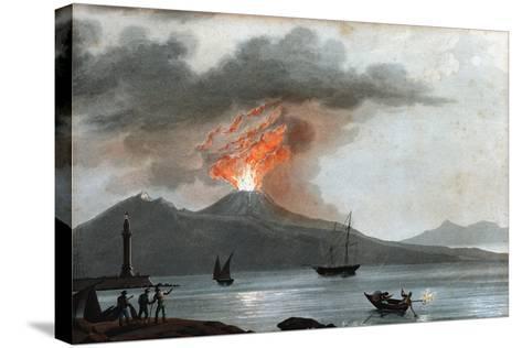Eruption of Vesuvius, Italy, C1815--Stretched Canvas Print