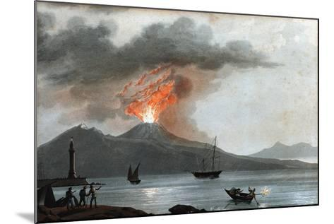 Eruption of Vesuvius, Italy, C1815--Mounted Giclee Print
