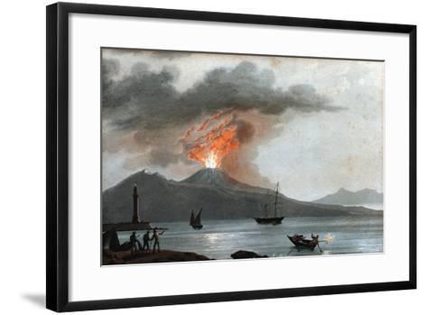 Eruption of Vesuvius, Italy, C1815--Framed Art Print
