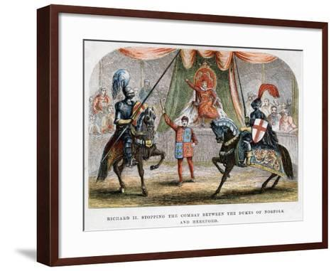 Richard II Stopping the Combat Between the Dukes of Norfolk and Hereford, 1398--Framed Art Print