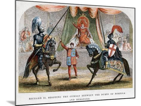 Richard II Stopping the Combat Between the Dukes of Norfolk and Hereford, 1398--Mounted Giclee Print
