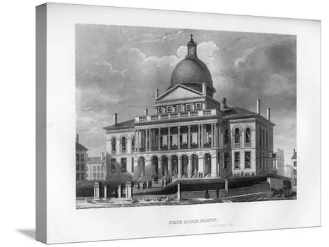 State House, Boston, Massachusetts, 1855--Stretched Canvas Print