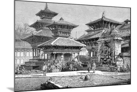 Temples Facing the Royal Place, Katmandu, Nepal, 1895--Mounted Giclee Print