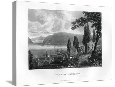 View of Newburgh, New York State, 1855--Stretched Canvas Print