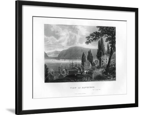 View of Newburgh, New York State, 1855--Framed Art Print