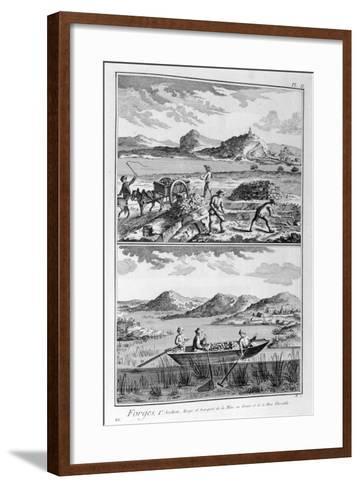 Forging Mills, Transport to the Mine, 1751-1777--Framed Art Print