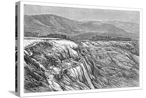 The Falls of Pambuk-Kaleh (Or Tambu), 1895--Stretched Canvas Print