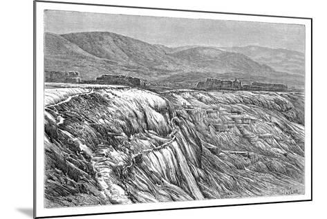 The Falls of Pambuk-Kaleh (Or Tambu), 1895--Mounted Giclee Print