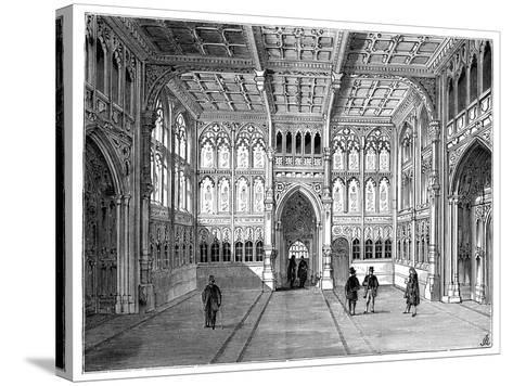 Lobby of the Houses of Commons, London, 1900--Stretched Canvas Print