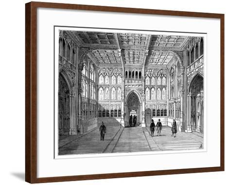 Lobby of the Houses of Commons, London, 1900--Framed Art Print