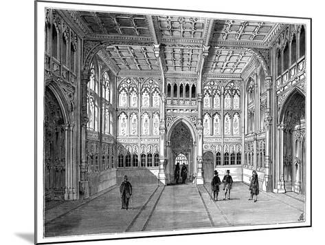 Lobby of the Houses of Commons, London, 1900--Mounted Giclee Print