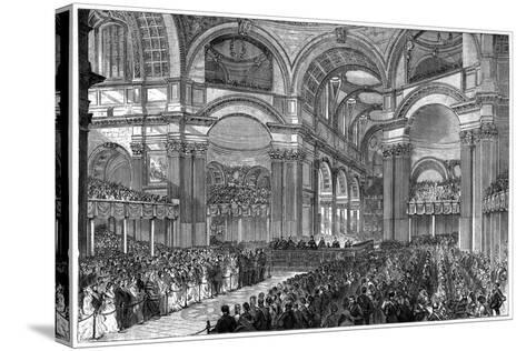 Thanksgiving Service in St Paul's Cathedral, London, 1900--Stretched Canvas Print