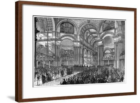 Thanksgiving Service in St Paul's Cathedral, London, 1900--Framed Art Print