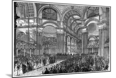 Thanksgiving Service in St Paul's Cathedral, London, 1900--Mounted Giclee Print