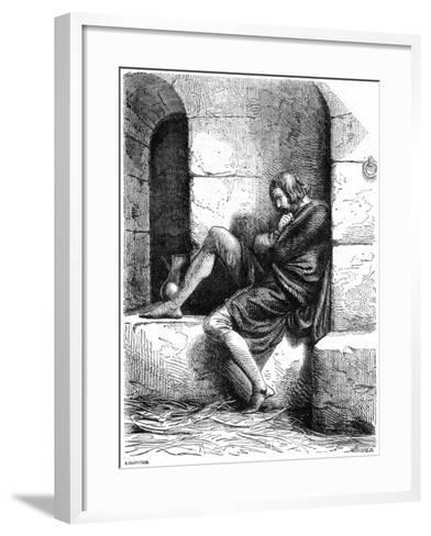 Robert of Normandy a Prisoner in Cardiff Castle- Oupre-Framed Art Print