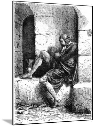 Robert of Normandy a Prisoner in Cardiff Castle- Oupre-Mounted Giclee Print