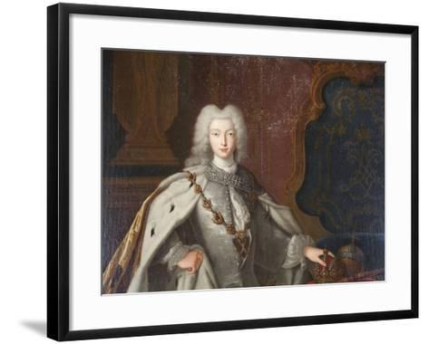 Portrait of Peter II, C1728--Framed Art Print