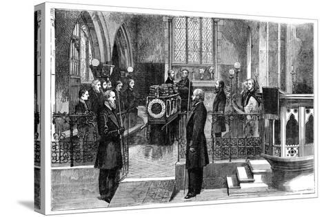 The Funeral of Benjamin Disraeli (1804-188), British Prime Minister, Late 19th Century--Stretched Canvas Print