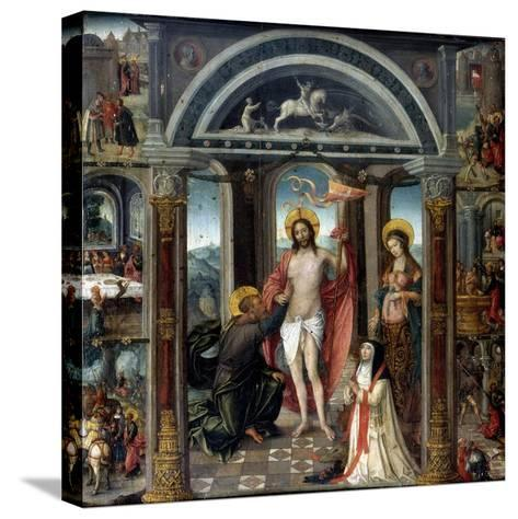 Doubting Thomas Putting His Hand into Christ's Wounds--Stretched Canvas Print