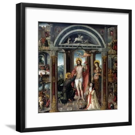 Doubting Thomas Putting His Hand into Christ's Wounds--Framed Art Print