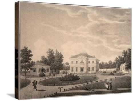 View of the House of Princess Natalya Petrovna Galitzine (1741-183) in the Gorodnya Estate, 1820S-Semyon Prokhorovich Lukin-Stretched Canvas Print