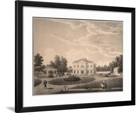 View of the House of Princess Natalya Petrovna Galitzine (1741-183) in the Gorodnya Estate, 1820S-Semyon Prokhorovich Lukin-Framed Art Print