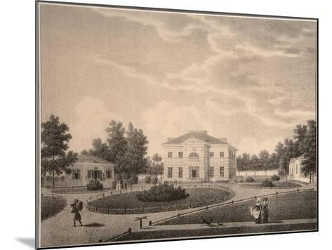 View of the House of Princess Natalya Petrovna Galitzine (1741-183) in the Gorodnya Estate, 1820S-Semyon Prokhorovich Lukin-Mounted Giclee Print