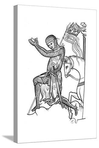 Knight in Armour, Late 13th Century--Stretched Canvas Print