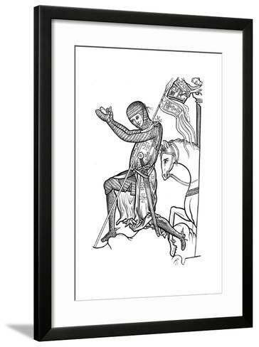 Knight in Armour, Late 13th Century--Framed Art Print