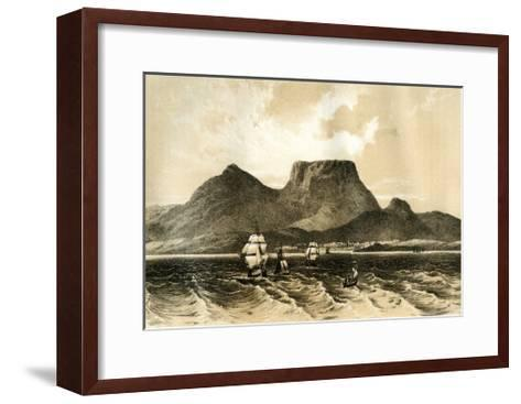 Table Mountain, Cape of Good Hope, South Africa, 1883--Framed Art Print