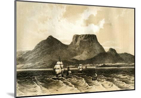 Table Mountain, Cape of Good Hope, South Africa, 1883--Mounted Giclee Print